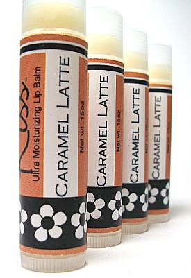 Caramel Latte LipBalm, Coffee flavor with a jolt of caramel, moisturizing recipe
