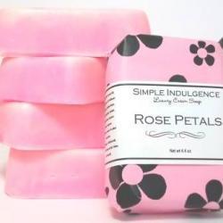 Rose Petals Shea Soap, Handmade, Simple Indulgence